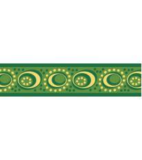 Red Dingo Obojek 15 mm x 24-37 cm - Cosmos Green