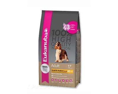 Eukanuba Adult Small & Medium Lamb & Rice - jahňacie & ryža pre dospelých psov malých a stredných plemien 2,5 kg
