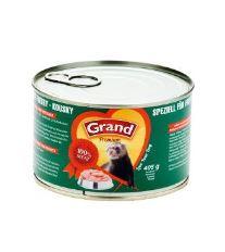 Granum Grand konzerva s mäsovými kúskami vo vlastnej šťave pre fretky 405 g