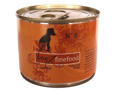 Dogz Finefood No.8 Konzerva - morčacie & kozie mäso pre psov