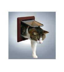 Dvířka kočka plast 4funkční s nástavci Hnědá TR