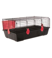 Klietka SMALL ANIMAL Michal čierna s červenou výbavou