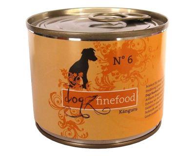 Konzerva pre psov Dogz Finefood No.6 - klokanie mäso