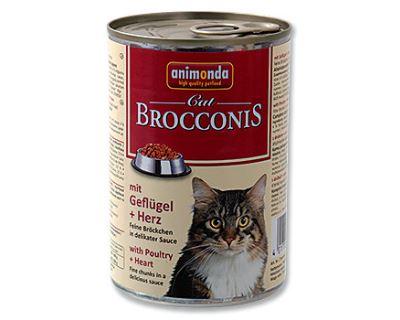 Animonda Brocconis Konzerva - hydina & srdce pre dospelé mačky 400 g