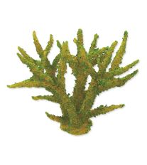 Dekorace AQUA EXCELLENT Mořský korál měkký zelený 16 x 12,5 x 13,5 cm