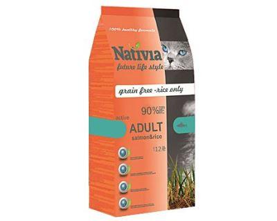 Nativite Cat Adult Salmon & Rice Active - losos & ryža pre dospelých a aktívne mačky 1,5 kg