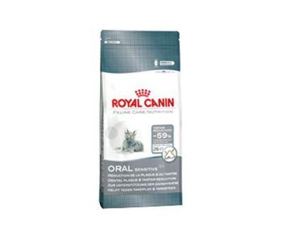 Royal Canin Feline Oral Sensitive - pre dospelé mačky k obmedzeniu zubného plaku 1,5 kg