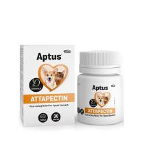 Aptus Attapectin - minerálny doplnok pre zamedzenie tráviacich ťažkostiach psov a mačiek, 30 tabliet