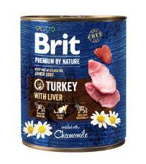 Brit Premium Dog by Nature  konz Turkey & Liver 800g