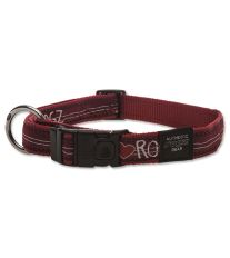Obojek pre psa nylonový - Rogz Fancy Dress Red Heart - 2,5 x 43 - 70 cm