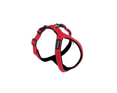 Postroj pro psa nylonový reflexní - červený - 2,5 x 62 x 69 - 93 cm