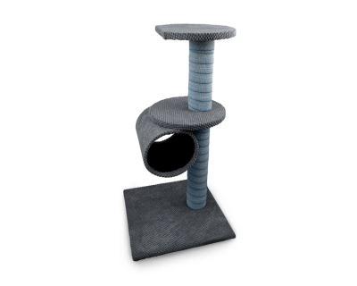 Škrabadlo pro kočky Argi - Megan - šedé - 80 x 40 x 40 cm