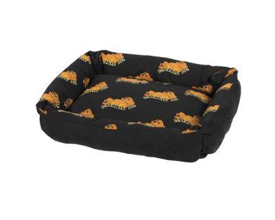 Snoozzzeee Relax bavlnené sofa-pelech obojstranný čierny