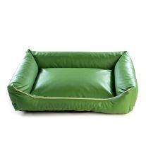 Pelech pre psa Argi obdĺžnikový - odnímateľný povlak z ekokoža - zelený - 80 x 65 cm