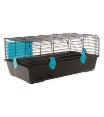 Klietka SMALL ANIMAL Matěj čierna s modrou výbavou
