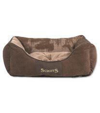 Scruffs Chester Box Bed pelech pre psov čokoládový - veľkosť S, 50x40 cm