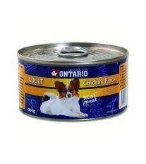 Ontario Chicken Pieces & Chicken Nugget konzerva - kuracie kúsky & nugetky pre dospelých psov malých a stredných plemien 200 g