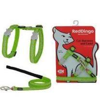 Postroj Red Dingo s vodítkem - zelená se vzorem květina