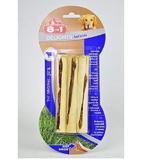 8in1 Beef Delights hovädzie tyčinky pre psov 77 g