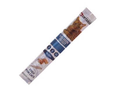 Ontario Stick Salmon & Trout - tyčinka losos & pstruh pre mačky a mačiatka 5 g