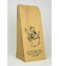 Fedog Papierové šité sáčky na trus s lopatkou vnútri, 25 ks