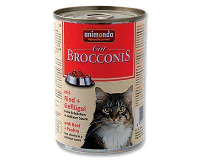 Animonda Brocconis Konzerva - hovädzie & hydina pre dospelé mačky 400 g