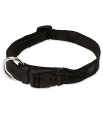 Obojok pre psa nylonový - Rogz Utility - čierny - 2,5 x 43 - 70 cm