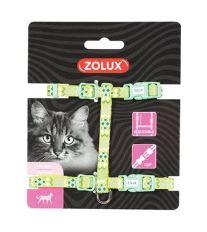 Postroj kočka ETHNIC nylon zelený Zolux