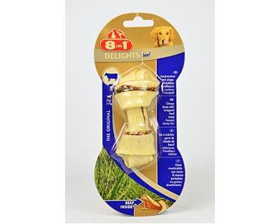 8in1 Beef Delights hovädzie žuvacie kosť - veľkosť S 82 g