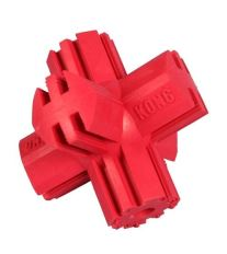 Hračka guma Kríž červený Kong small