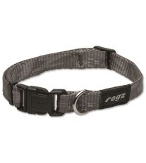 Obojok pre psov nylonový - Rogz Alpinist - stříbrný - 1,6 x 26 - 40 cm