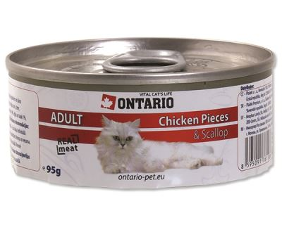 Ontario Chicken pieces & Scallop konzerva - kuracie kúsky & mušle 95 g
