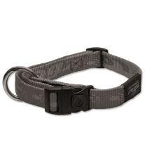 Obojek pro psa - nylonový - Rogz Alpinist - stříbrný - 2 x 34 - 56 cm