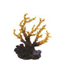 Dekorace AQUA EXCELLENT Mořský korál žlutofialový 12,5 x 8,1 x 13 cm