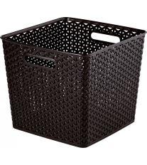 Curver čtvercový box, MY STYLE, hnědý