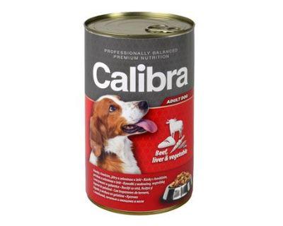 Calibra Dog konzerva hovädzie & pečeň & zelenina v želé 1240 g