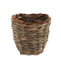Hniezdo SMALL ANIMAL Košík trávne pletené 15 x 10 x 15 cm