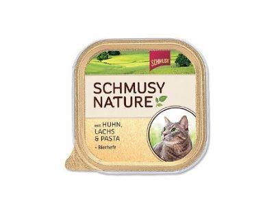 Schmusy Nature Menu vanička - kura & losos 100 g