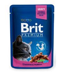 Brit Premium Cat Chicken & Turkey - kapsička kuracie & morčacie pre mačky 100 g
