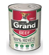 GRAND konz. pes deluxe 100% hovězí 400g