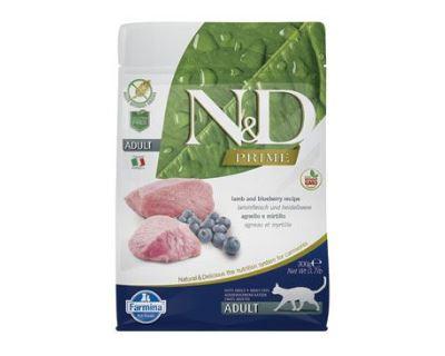 N&D Grain Free Cat Adult Lamb & Blueberry - jahňacie & čučoriedky bezobilné pre dospelé mačky 300g