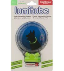 Obojok pre psov svietiace - Red Dingo Lumitube led - zelený - 15 - 50 cm