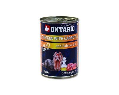 Ontario Chicken, Carrots, Salmon Oil konzerva - kuracie & mrkva & lososový olej pre dospelých psov