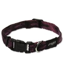 Obojok pre psov nylonový - Rogz Alpinist - fialový - 1,6 x 20 - 32 cm