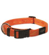 Obojek pre psa nylonový - Rogz Alpinist - oranžový - 2,5 x 43-70 cm