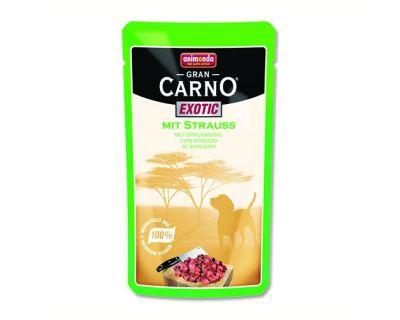 Animonda Gran Carno Exotic Kapsička - pštrosie pre psov 125 g