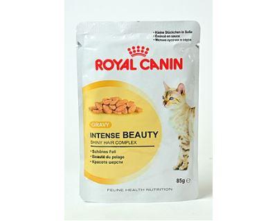 Royal Canin Feline Intense Beauty - kapsička mäso v šťave pre krásnu srsť u dospelých mačiek 85 g