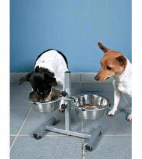 Trixie Psie bar misky s nastaviteľnou výškou do 40 cm, 1,8 l