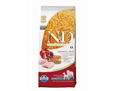 N&D Low Grain Dog Senior M/L Chicken & Pomegranate 12 kg