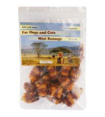For Dogs and Cats Pochoutka Hovězí mini párky omotané kach a kuř 230 g